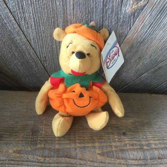 Vintage Pooh Beanie Baby Halloween Pumpkin Winnie Pooh Bear 8 Etsy