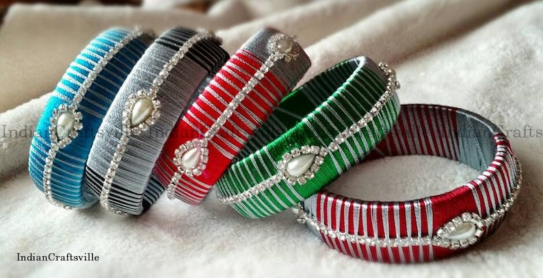 Silk Thread Jewelry Bridal Shower Gift Baby Shower Gift Etsy