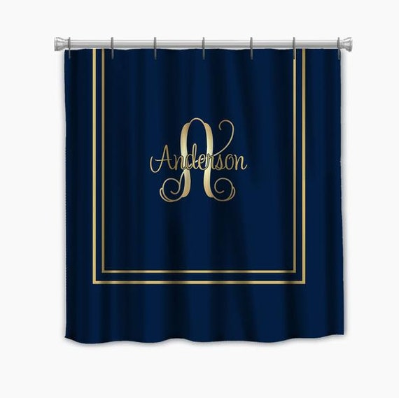gold shower curtains and bathroom accessories