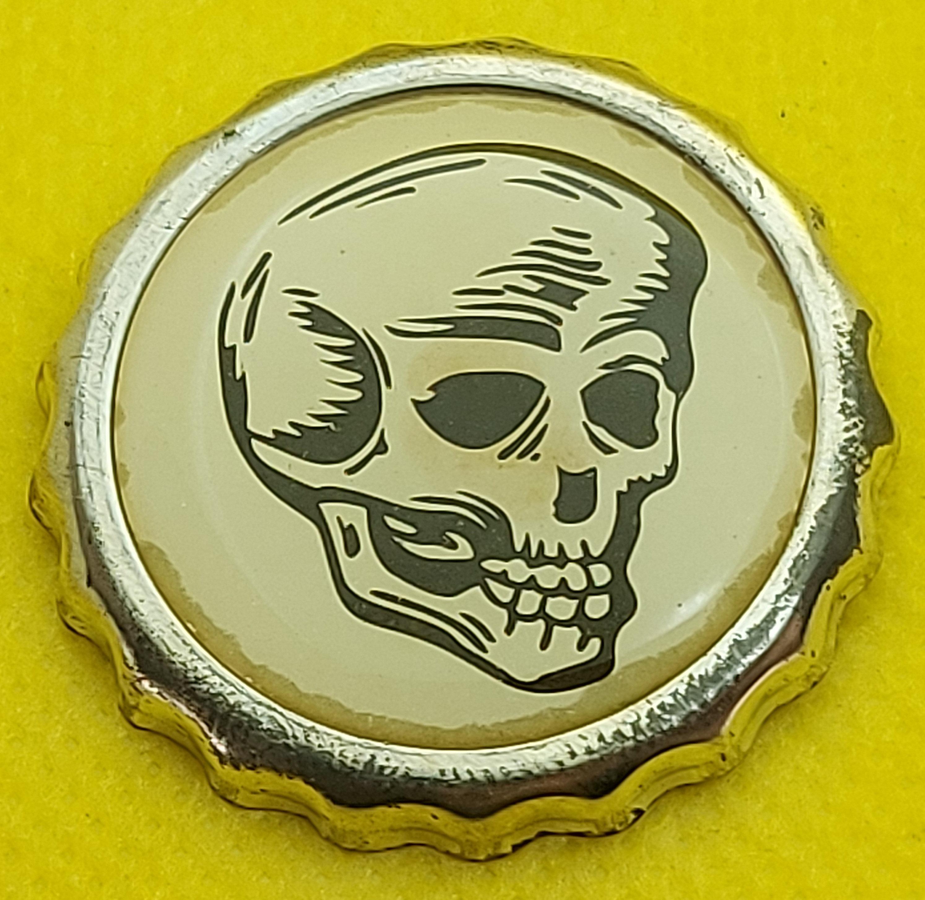 punk badge Bottle Caps ! punk pin PUNK corpse head