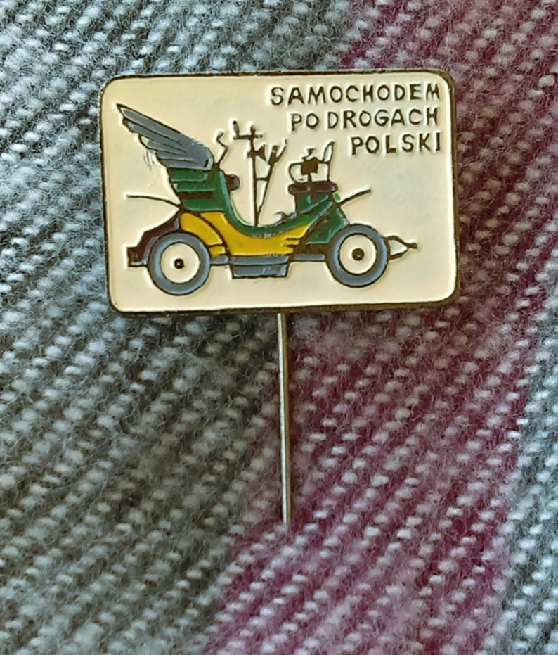 auto car Samochodem po Drogach Polski Oldtimer Poland cars badge antique pin