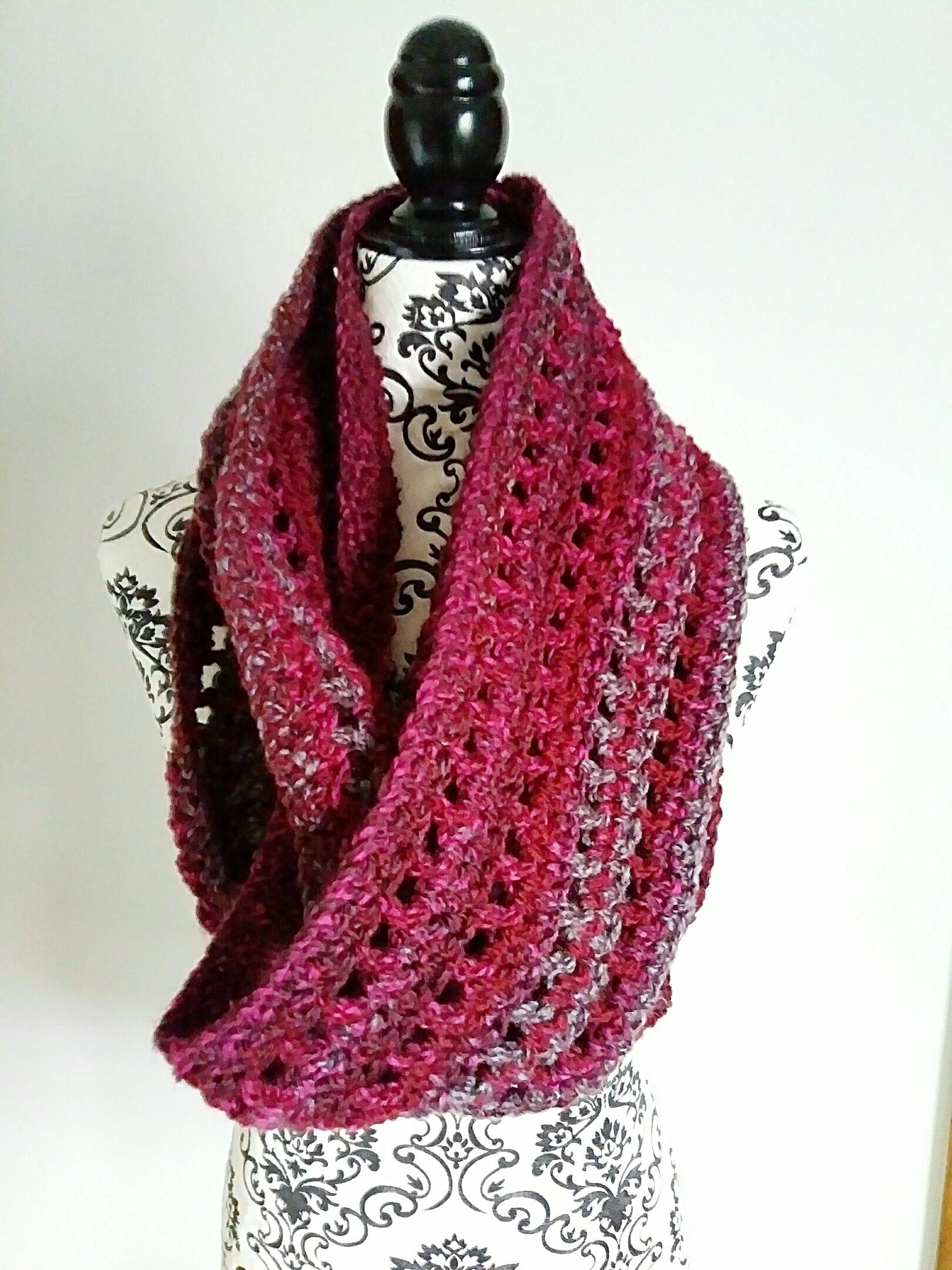 Infinity Scarf Crochet Pattern The One Infinity Scarf Etsy