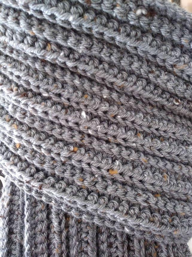 Crochet Pattern Mens Scarf Mens Crochet Scarf Etsy