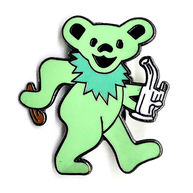 Grateful Dead Bear Orange Festival Lapel 710 Enamel 420 Dab