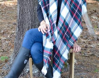 Popular Plaid Blanket Scarf