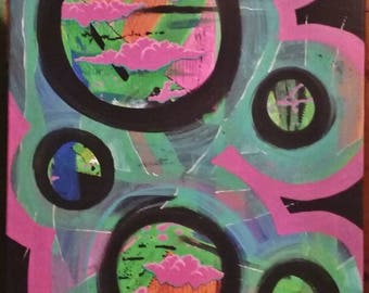 Abstract bubbles - painting
