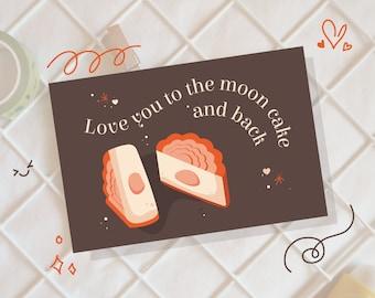 Mooncake and Back | Asian Illustration | Chocolate