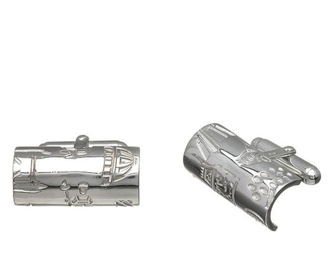 London Tube Cufflinks Hallmarked Sterling Silver