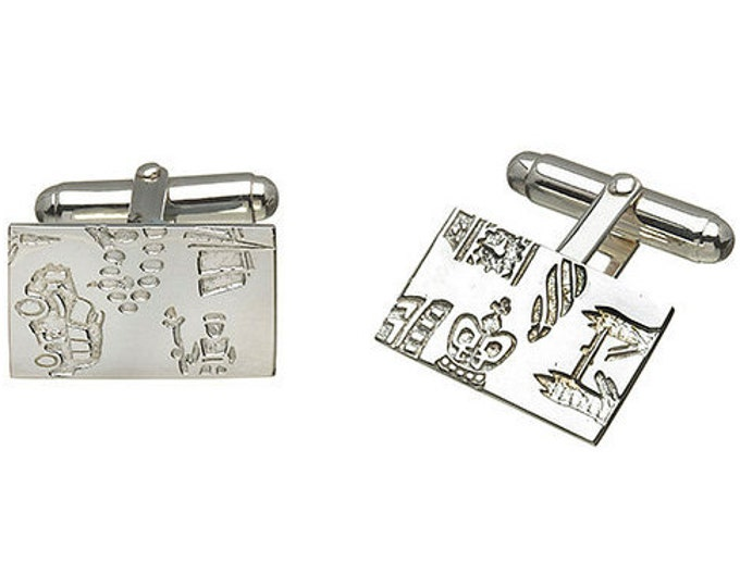 Hyde Park Cufflinks Hallmarked Sterling Silver