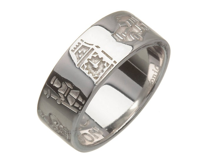 Iconic London Ring, Sterling Silver 6mm wide