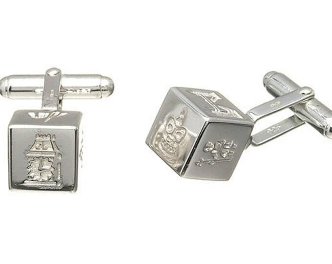 Trafalgar square Cufflinks Hallmarked Sterling Silver