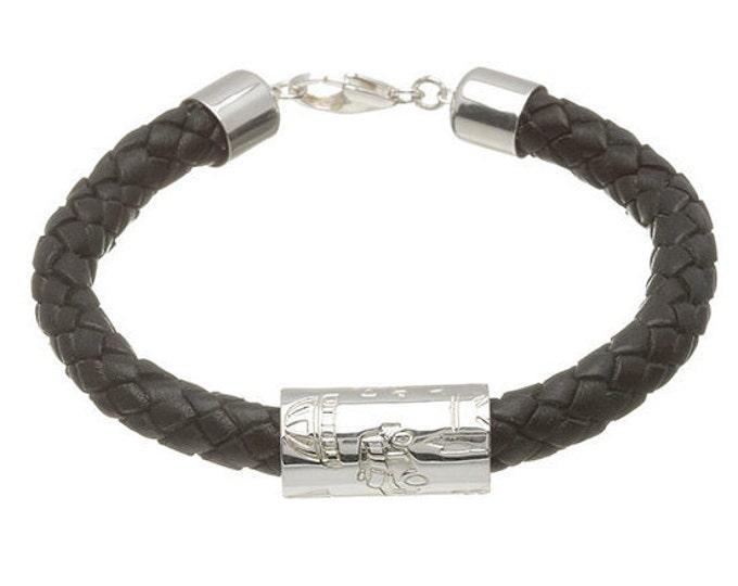 London Tube Bracelet Hallmarked Sterling Silver