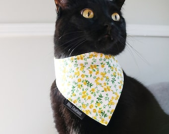 Pet bandana | SUMMERLY | reversible and adjustable | for cats kittens and dogs | Made in Canada