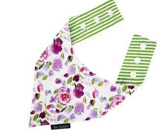 Pet bandana | PETALS | Reversible & adjustable | For cats kittens dogs | Made in Canada