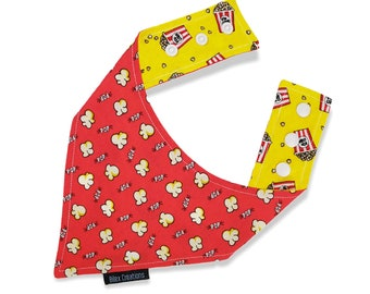 Pet bandana | POPCORN | Reversible and adjustable | For cats kittens and dogs | Made in Canada