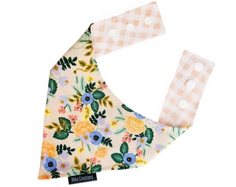 Pet bandana | WILD BOUQUET |  Handmade in Canada | Reversible and adjustable