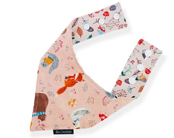 Pet bandana | ENCHANTED FOREST | reversible and adjustable | for cats kittens and dogs | Made in Canada