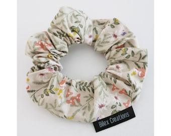 Scrunchie   WILDFLOWERS  Made in Canada   100% cotton