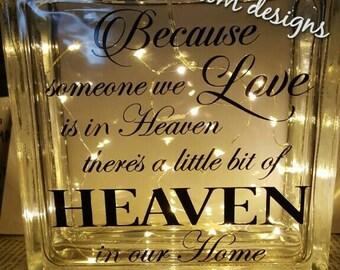 Lighted Glass Block, Heaven, Decor, Lights, Night Light, Religious, Home, Love, Best Seller,