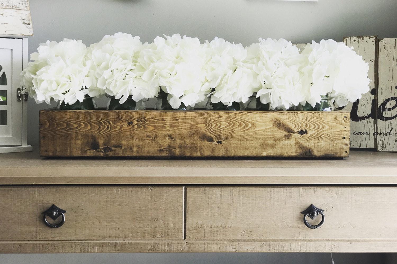 Mason Jar Planter Boxflowers Included Centerpiece Farmhouse Decor