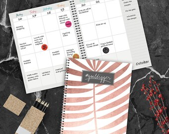 Blush 8.75x11 Open Dated Planner