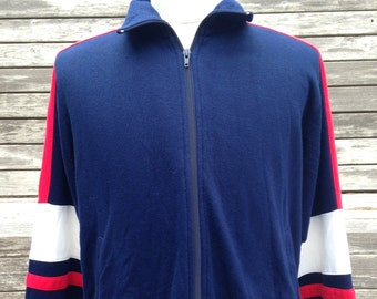 Vintage 80s 90s Sportswear track jacket full zip - medium / large