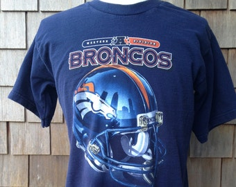 90s Vintage Denver Broncos T Shirt by Pro Player - Medium / Large