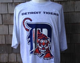 Vintage 90s Detroit Tigers T Shirt - XXL / XL - Salem Sportswear