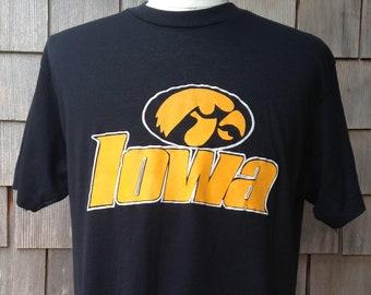 wholesale dealer 19c9e 77280 80s vintage Iowa Hawkeyes T shirt - Large - University - soft   thin