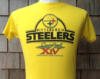 vintage 1980 Pittsburgh Steelers Super Bowl XIV T shirt - Small   XS - soft  and thin f2d77ea80