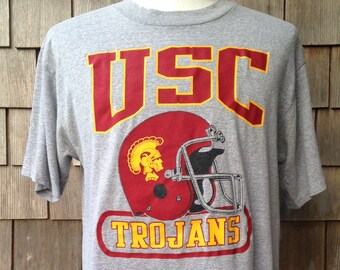 1d254477f82 80s vintage USC Trojans football T shirt   Large   University of Southern  California