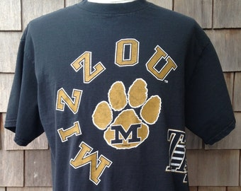 06f5319a607 80s vintage Missouri Tigers all over print T shirt / Large / University /  Mizzou