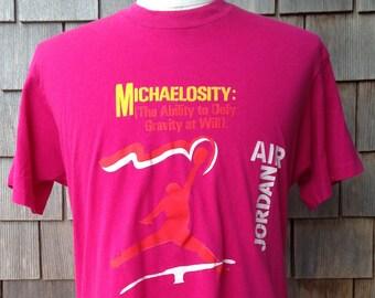 7ae091de162b Rare 80s vintage Michael Jordan T shirt   Air Jordan   Screen Stars   Medium