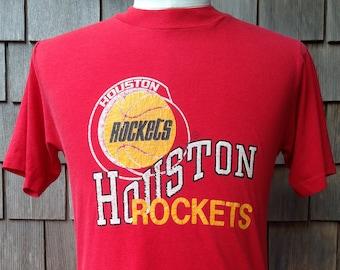 ea3a822d094 80s vintage Houston Rockets T shirt / Small / Champion / NBA basketball