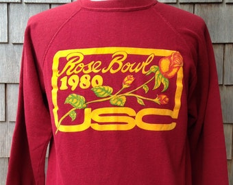 1ddac94731f Rare vintage 1980 USC Trojans Rose Bowl sweatshirt   Medium   University of Southern  California football