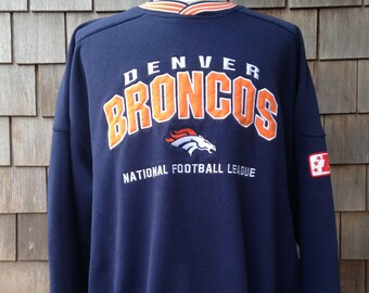 90s vintage Denver Broncos sweatshirt - 3XL / XXXL - embroidered