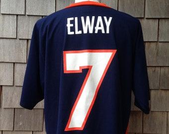05a58fd6b91 90s vintage John Elway jersey  7 Denver Broncos   Large - XL   Logo 7