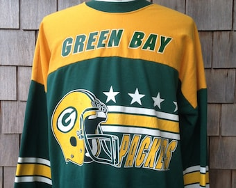 e9d6f91373ae 80s vintage Green Bay Packers colorblock sweatshirt   Large - XL