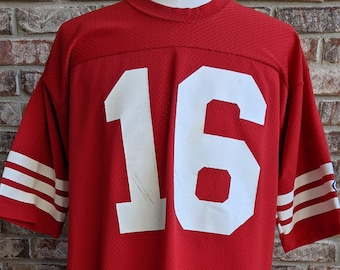 80s vintage San Francisco 49ers jersey #16 jersey / Champion / Joe Montana / XL