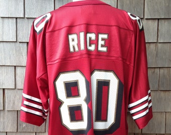 b9ef17590ea 90s vintage Jerry Rice San Francisco 49ers jersey  80   Logo Athletic   XL    Forty Niners