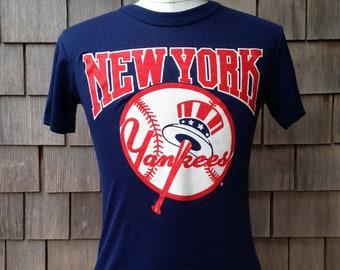 80s vintage New York Yankees T shirt - Small - MLB baseball