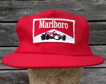 80s vintage Marlboro Racing snapback hat a51b394762bd