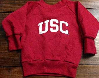 c7e088827 vintage USC Trojans sweatshirt / 12 months / baby / University Southern  California