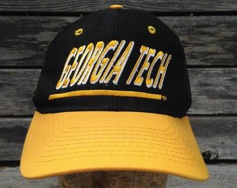 6d4f06c4e34 90s vintage Georgia Tech Yellow Jackets snapback hat   Top of the World    one size   cap