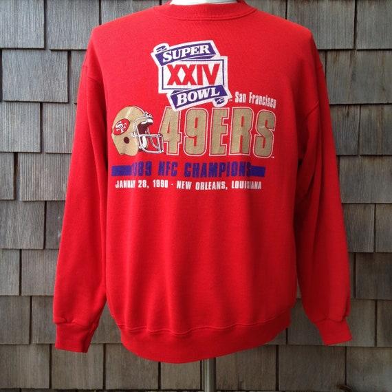 vintage San Francisco 49ers Super Bowl XXIV sweatshirt   Forty  cdda21535