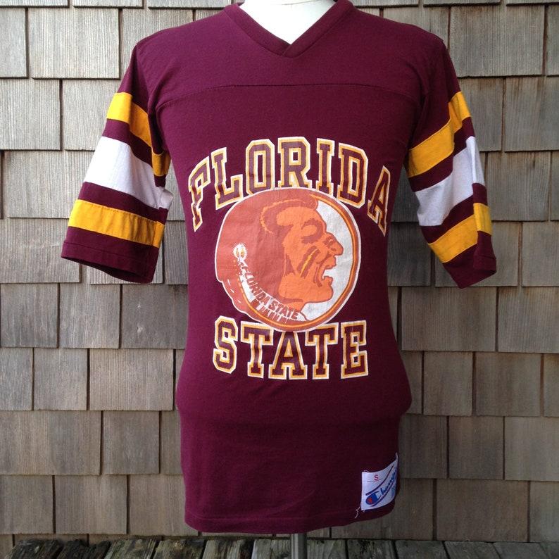 separation shoes f76ea 1e6ed 80s vintage Florida State Seminoles jersey T Shirt / Champion / Small - XS  / University / half sleeve