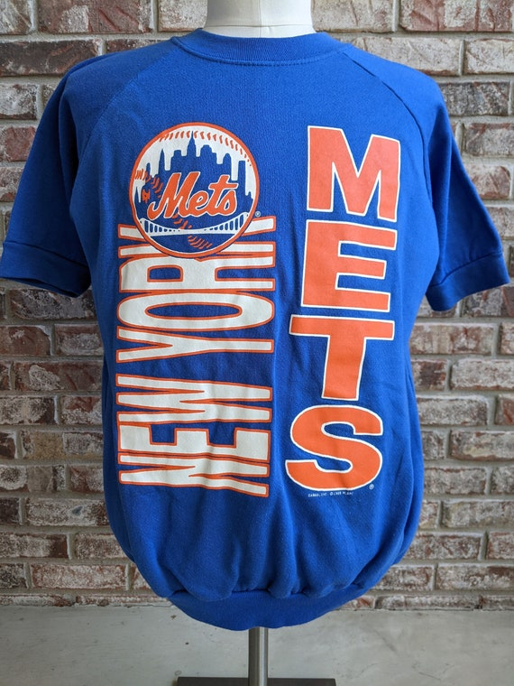 80s vintage New York Mets sweatshirt / short sleev