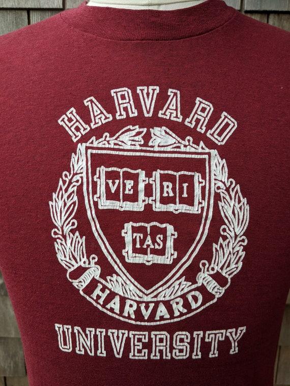 80s vintage Harvard University Crimson T shirt / … - image 3