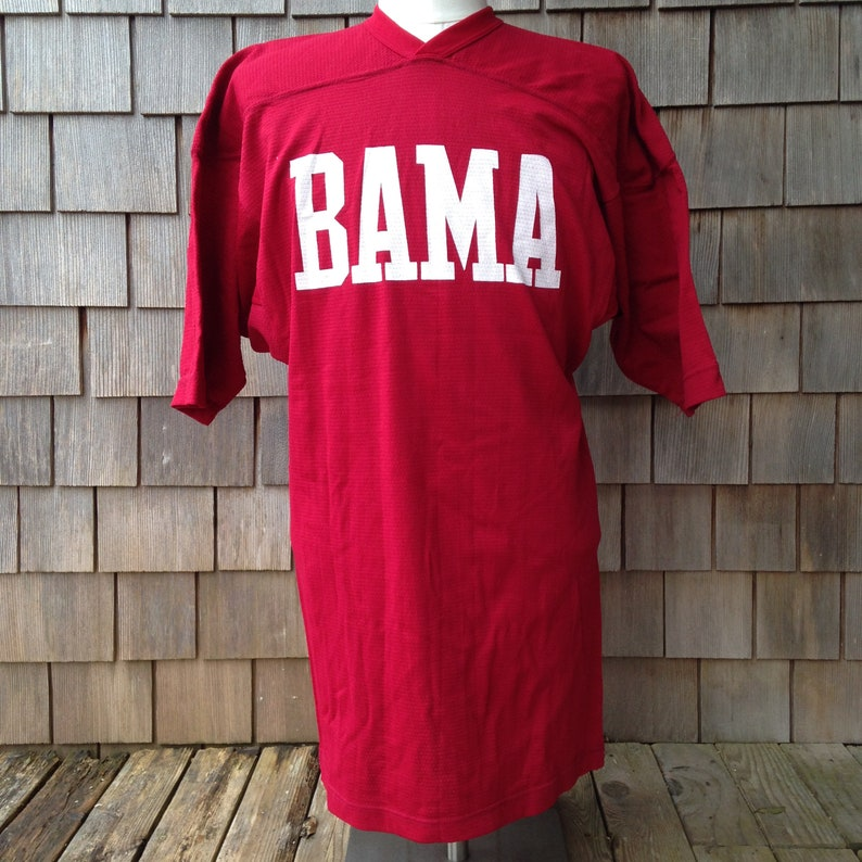 buy online 2c9fb fc69e 70s 80s vintage Alabama Crimson Tide football jersey - Medium fitted -  University Bama Roll Tide