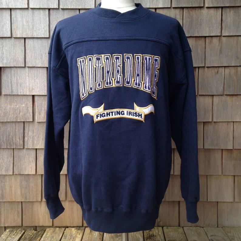 640ca598cef09 90s vintage Notre Dame Fighting Irish sweatshirt embroidered